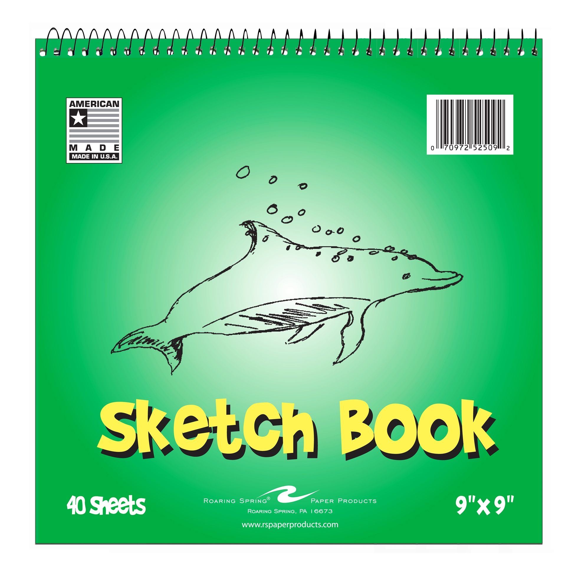"KIDS SKETCH BOOK, 9""x9"" UNRULED"