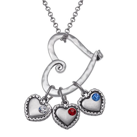 Personalized Mother Day Gifts (Personalized Sandra Magsamen's Mother Birthstone Heart Slider Silver-Tone)