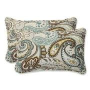Pillow Perfect Outdoor/ Indoor Tamara Paisley Quartz Rectangular Throw Pillow (Set of 2)
