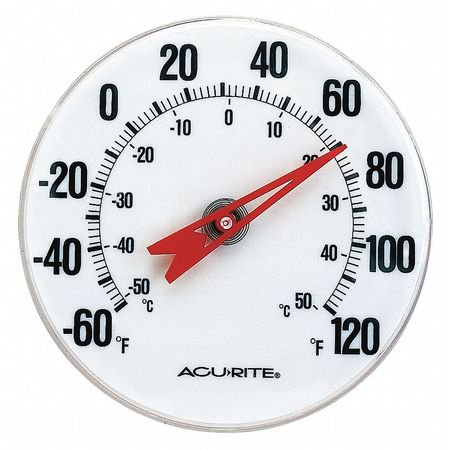 """ACURITE 00346A2 Analog Thermometer,5"""" Dial Size"""