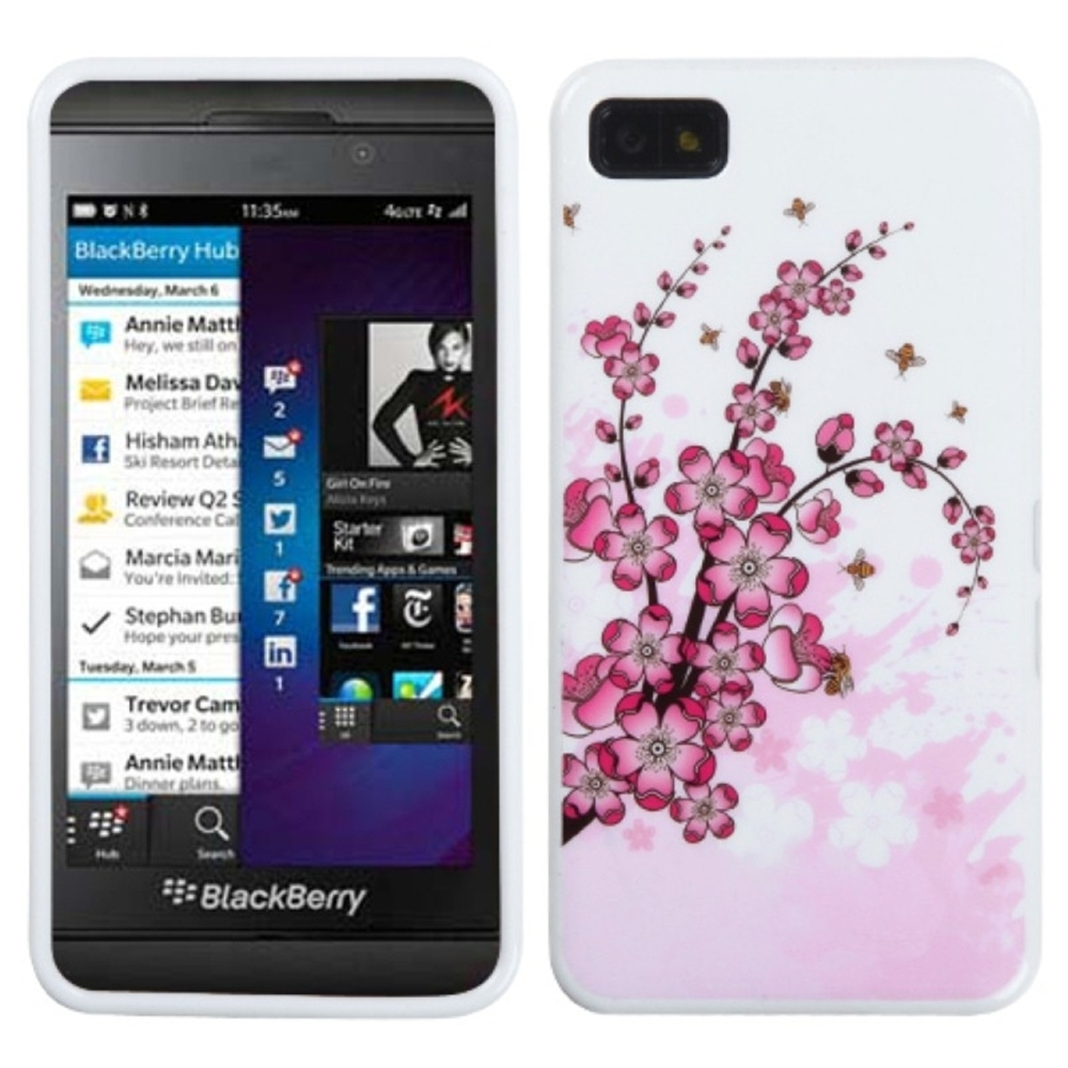 Insten Spring Flowers Candy Skin Case for BLACKBERRY: Z10