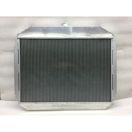 72 Radiator Core Support (68-79 Ford F100 F150 F250 Bronco 2 Row Core Dual Full Aluminum Racing Radiator)