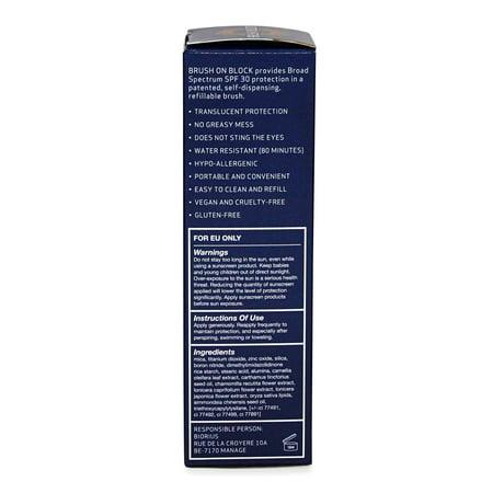 Mineral Sunscreen Powder SPF 30 - Original Translucent by Brush On Block for Unisex - 0.12 oz Powder - image 2 of 4
