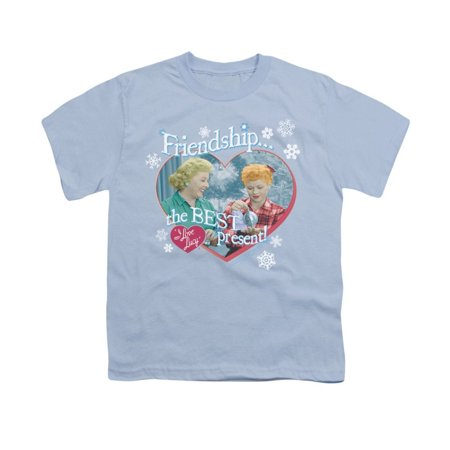 I Love Lucy - The Best Present Youth T-Shirt - Youth T-Shirt (Ages 8-12) / L / Light (Best Presents For Boys)