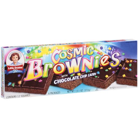 Little Debbie Snacks Cosmic Brownies With Chocolate Chip Candy, 6ct - Halloween Chocolate Brownies