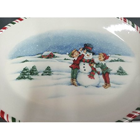 Kathy Ireland Once Upon a Christmas Elf Oval Platter (Christmas Fruit Platter)