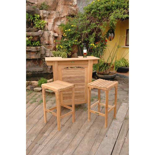 Anderson Teak Montego 3 Piece Teak Bar Set by Anderson Collection
