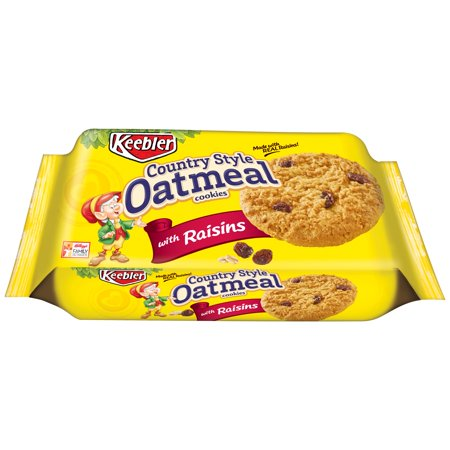 Keebler  Country Style Oatmeal Cookies With Raisins 10 1 Oz  Tray