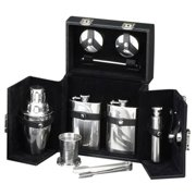 Bey-Berk 10 Piece Flask/Shaker Set