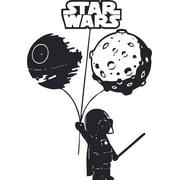 Little Dark Vader Star Wars Cartoon Character Wall Art Vinyl Sticker Design Decal Girls Boy Kid Bedroom Nursery Kindergarten Fun Home Children Room Decor Sticker Wall Art Decoration Size (40x35 inch)