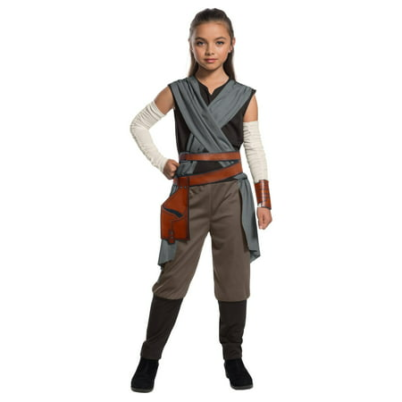 Star Wars Episode VIII - The Last Jedi Girl's Rey Costume - Last Minute Costume Ideas Women