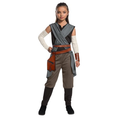 Star Wars Episode VIII - The Last Jedi Girl's Rey Costume - 80s Rock Star Costumes