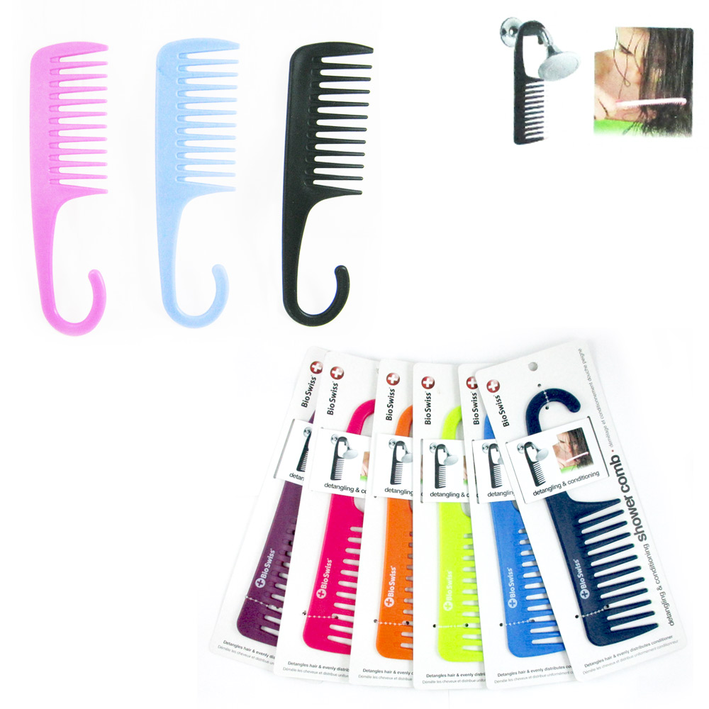 1 Shower Comb Hair Wide Tooth Dry Wet Gently Detangles Thick Long Detangling New
