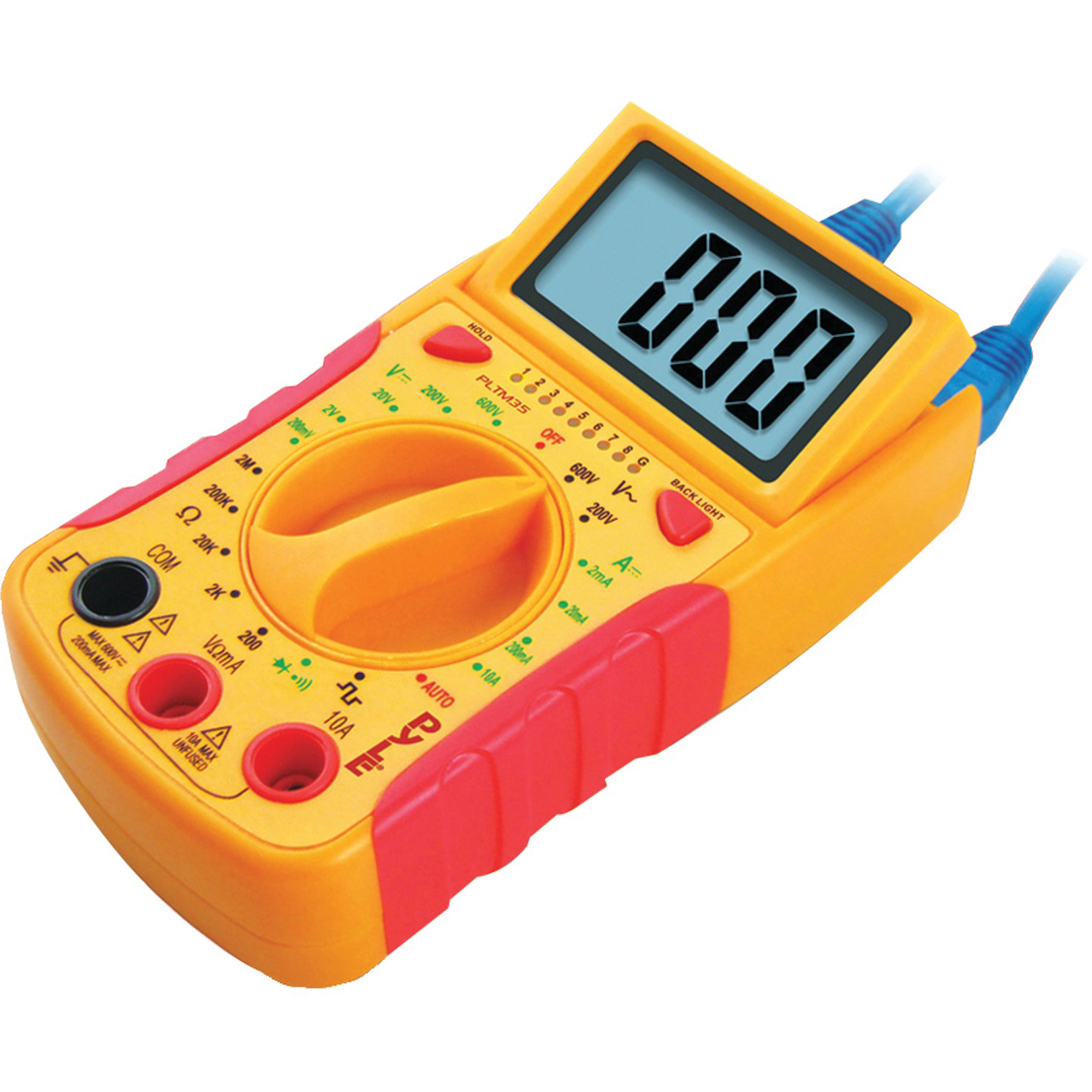Pyle PLTM35 Mini Digital LCD Multimeter, DC and AC Voltages, DC Current, Resistance and Diode
