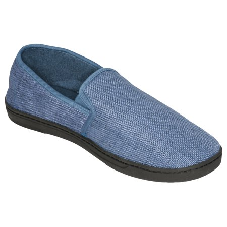 - Deluxe Comfort Men's Memory Foam Slipper, Size 9-10 – Soft Linen 120D SBR Insole and Rubber Outsole – Pure Suede Shoes – Non-Marking Sole – Men's Slippers, Green