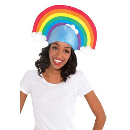 Halloween Rainbow Adult Plush Hat (1ct)](Find Costume Coupon)