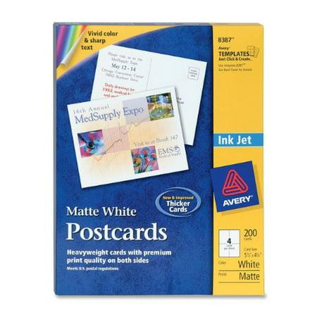 Avery Invitation Card 550 X 425 Matte 200 Box White