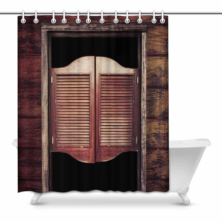 MKHERT Old Rustic Western Swinging Saloon Doors West Cowboy Bar Home Decor Waterproof Polyester Fabric Shower Curtain Bathroom Sets 60x72 inch](Old West Saloon Decor)