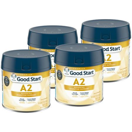 (Pack of 4) Gerber Good Start A2 Milk (HMO) Non-GMO Powder Infant Formula, Stage 1, 20 oz