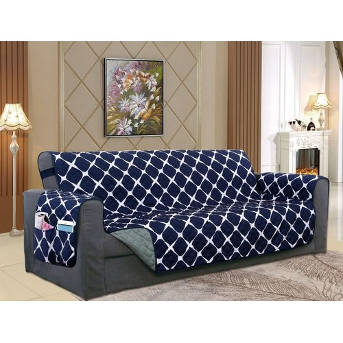 Winston Porter Reversible Furniture Protector Box Cushion Sofa
