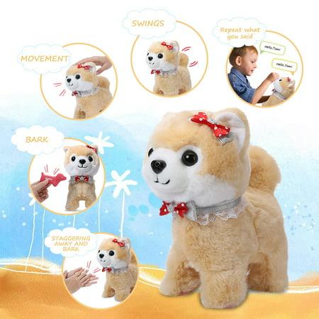 Shinehalo Walking And Barking Puppy Dog Pet Toy Electronic Plush Dog