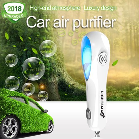 Car Air Purifier, Clear Air: Car Air Freshener and Ionic Air Purifier with Unique Scent Slot Design and blue LED | Remove Dust, Pollen, Smoke and Bad Odors - Available for Your Auto or