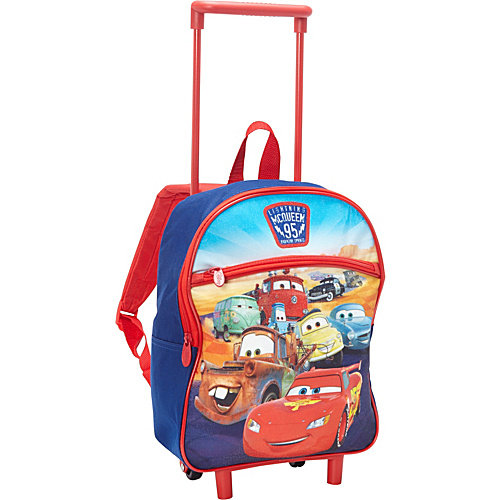 Disney Cars 12 Inch Rolling Backpack