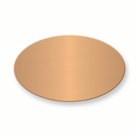 - 1 1/8 X 7/8 Oval Copper Alum Plates Sets Of 6 Inspirational Trophy Award Engraving Plate Aluminum