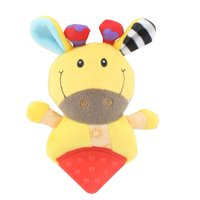 LYUMO Baby Infant Soft Plush Comforting Appease Toy Teether with Rattle Design, Rattle Toy, Baby Plush Toy