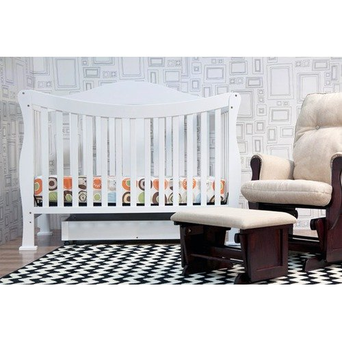DaVinci Parker 4-in-1 Convertible Crib with Toddler Rail in Pure White