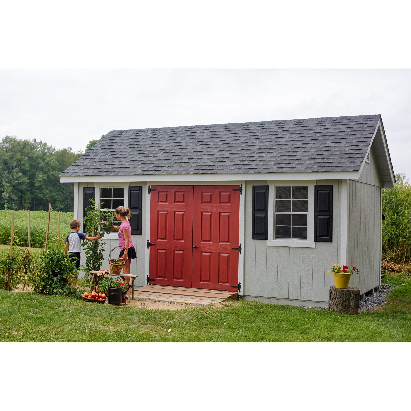 YardCraft 10 ft. x 18 ft. Fairmont Garden Shed by Supplier Generic