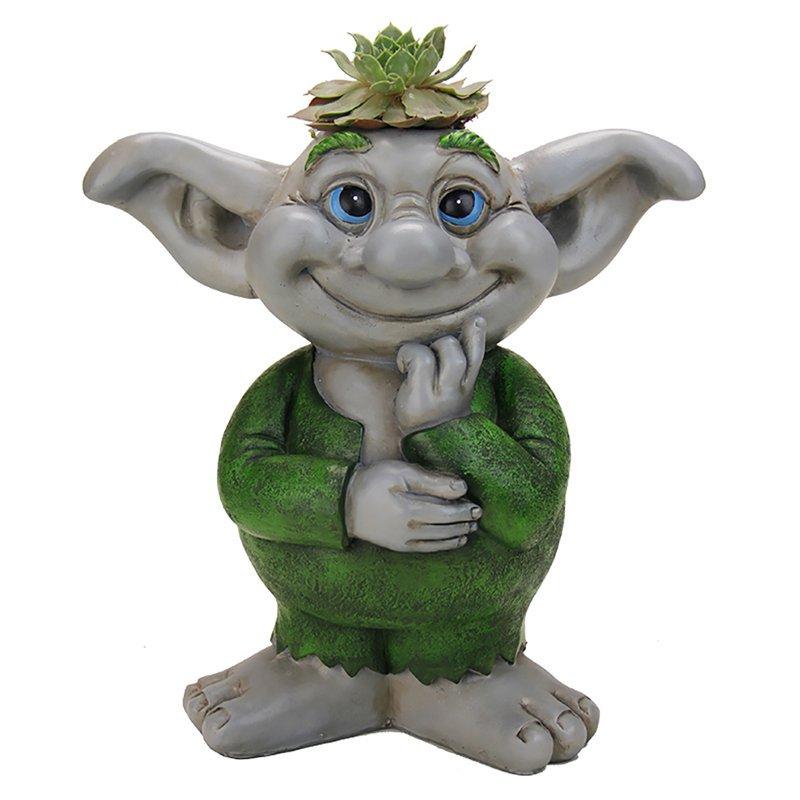 Exhart Boy Troll Garden Statue