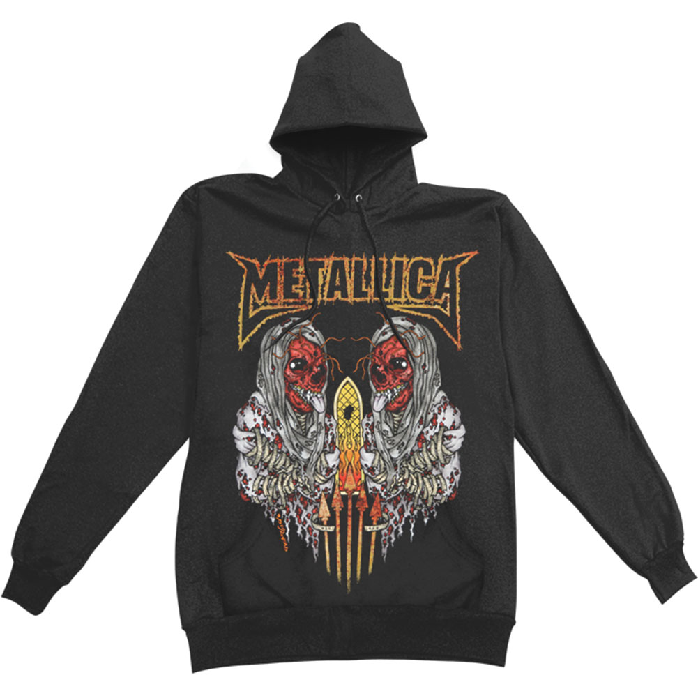 Metallica Men's  Sanitarium Hooded Sweatshirt Black
