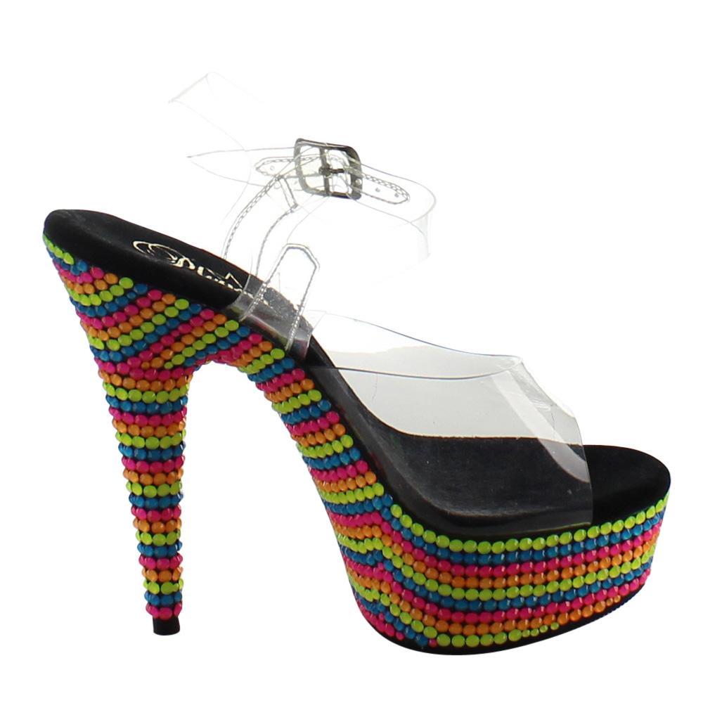 Women's Pleaser Delight 608RBS Ankle Strap Sandal