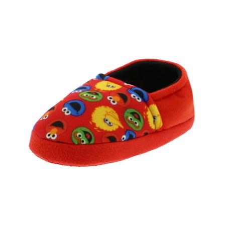 Cookie Monster Slipper (Sesame Street Elmo Cookie Monster Boys Girls Plush Aline Slippers STF7100BSS)