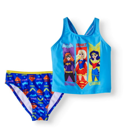 Warner Bros Dc Super Hero Little Girls 4 6x 2 Piece Cross Back