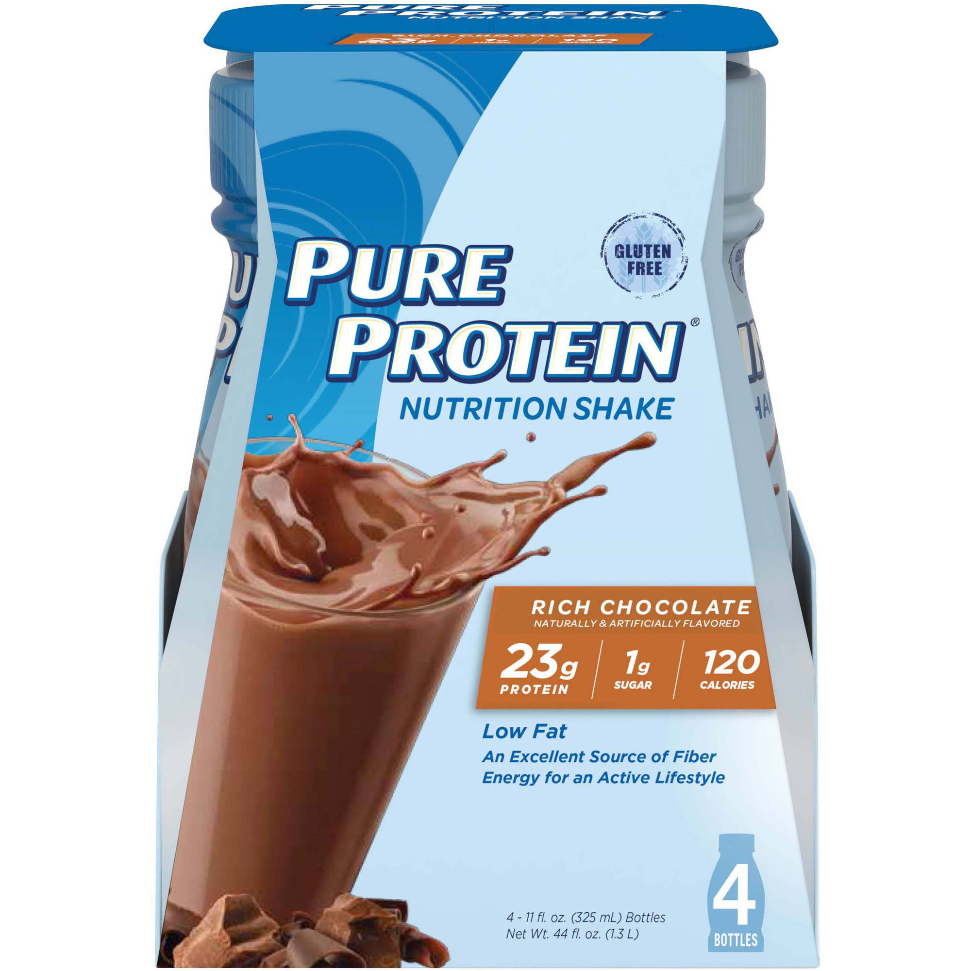 Pure Protein Shake, Chocolate, 23g Protein, 4 Ct