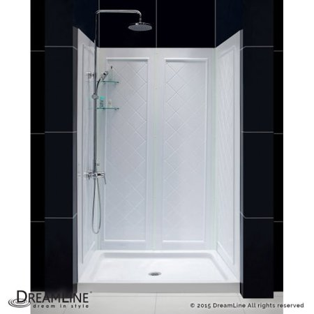 Dreamline DL-6193 SlimLine Shower Installation Package with 76-3/4