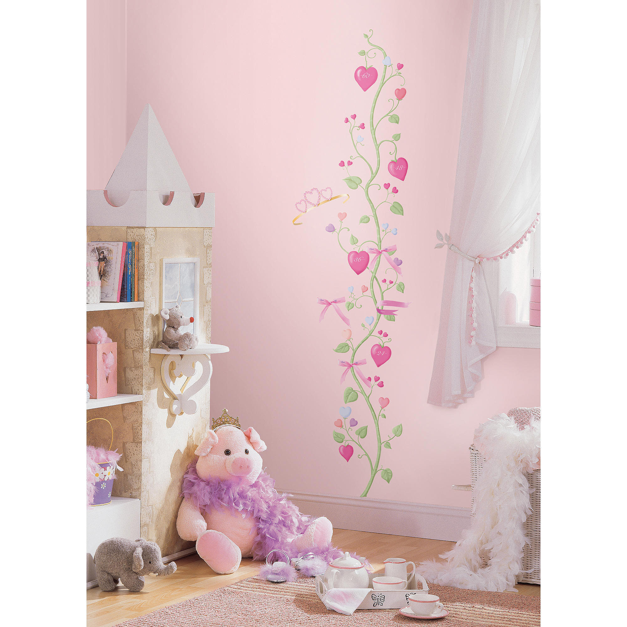 Wallies Princess Land Interactive Peel /& Stick Mural