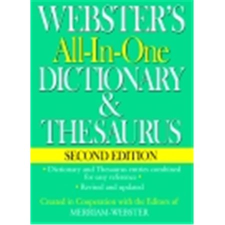Websters Federal Street Press Book All In One Dictionary   Thesaurus 2Nd Edition