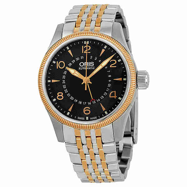 Oris Big Crown Automatic Black Dial Two-tone Stainless St...