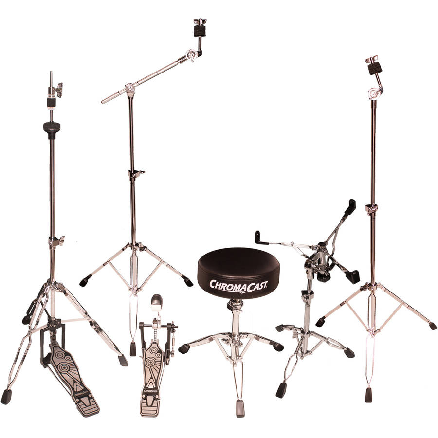 ChromaCast Double Braced Drum Hardware Pack with Chain Drive Pedal and Double Braced Drum Throne