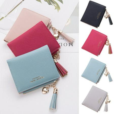1PC Cute Wallet Women Coin Bag Leather Ladies Simple Bifold Small Handbag Purse