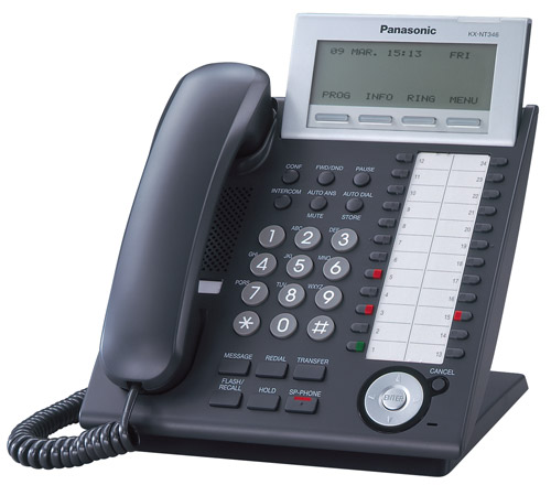 Panasonic KX-NT346 Hybrid Corded IP Phone w/ 6-Line Backl...