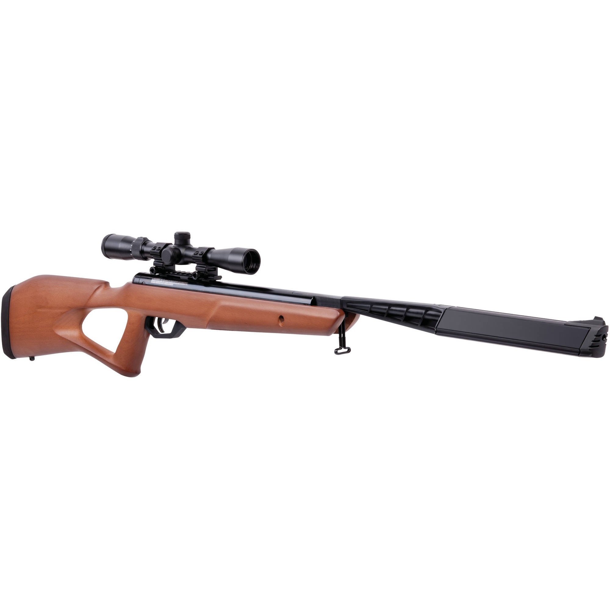 Benjamin Trail SBD Stealth Hardwood .177 Caliber NP2 Break Barrel Air Rifle with Scope, 1400fps by Crosman