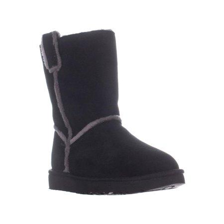 Womens UGG Australia Classic Short Spill Seam Winter Boots, Black ()