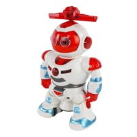Battery Operated Electronic Walking Spinning Dancing Colorful Toy Robot with Music for Kids Boys Girls Toddlers W/ Flashing Lights, 360 Rotation, & Dance Music