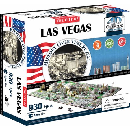 4D Cityscape Las Vegas History Time Puzzle  930  Pieces