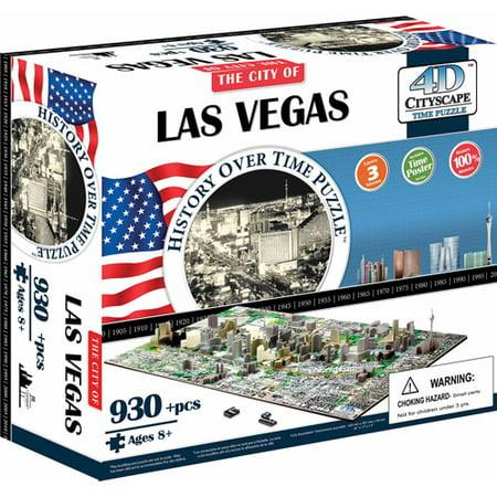 Image of 4D Cityscape Las Vegas History Time Puzzle, 930+ Pieces