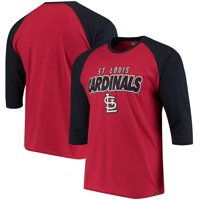 St. Louis Cardinals '47 Club 3/4-Sleeve Raglan T-Shirt - Red